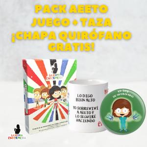 PACK AEETO – TAZA PERSONALIZADA, JUEGO con CHAPA GRATIS